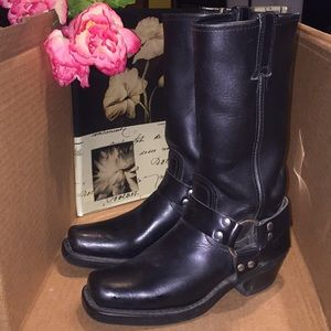 Frye Harness Boots Size 6.5 Black